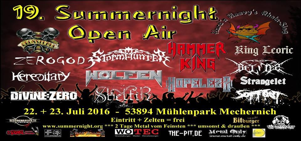Abgesagtes Summernight Open Air 2016 und die Folgen - Spendensammlung und Benefiz Show