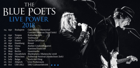 "Bluesrock uncut: The Blue Poets starten ""Live Power"" Pre-Sale"